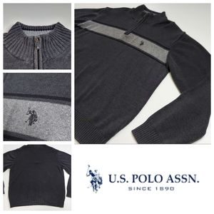 Vintage knit U.S Polo Assn. 1/4 Zip Turtleneck